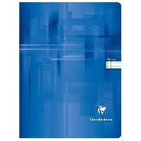 Cahier CLAIREFONTAINE - Cahier piqûre - 24 x 32 - 96 pages Seyes - Couverture pelliculée - Vert