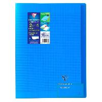 Cahier CLAIREFONTAINE - Cahier piqûre KOVERBOOK - 21 x 29.7 - 96 pages Seyes - Couverture Polypro translucide - Couleur bleue