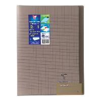 Cahier CLAIREFONTAINE - Cahier piqûre KOVERBOOK - 21 x 29.7 - 96 pages Seyes - Couverture Polypro translucide - Couleur marron