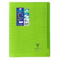 Cahier CLAIREFONTAINE - Cahier piqûre KOVERBOOK - 21 x 29.7 - 96 pages Seyes - Couverture Polypro translucide - Couleur verte