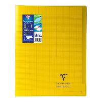 Cahier CLAIREFONTAINE - Cahier piqûre KOVERBOOK - 24 x 32 - 96 pages Seyes - Couverture Polypro translucide - Jaune