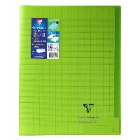 Cahier CLAIREFONTAINE - Cahier piqûre KOVERBOOK - 24 x 32 - 96 pages Seyes - Couverture Polypro translucide - Vert