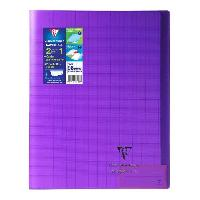 Cahier CLAIREFONTAINE - Cahier piqûre KOVERBOOK - 24 x 32 - 96 pages Seyes - Couverture Polypro translucide - Violet