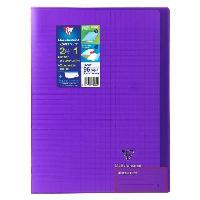 Cahier CLAIREFONTAINE - Cahier piqûre avec rabats KOVERBOOK - 21 x 29.7 - 96 pages Seyes - Couverture pelliculée - Couleur violette