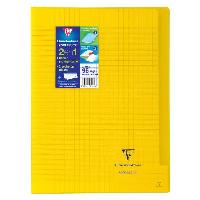 Cahier CLAIREFONTAINE - Cahier piqûre avec rabats KOVERBOOK - 21 x 29.7 - 96 pages Seyes - Couverture polyproplylene translucide - Jaune