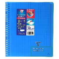 Cahier CLAIREFONTAINE - Cahier reliure avec rabats KOVERBOOK - 17 x 22 - 160 pages Seyes - Couverture polyproplylene translucide - Bleu