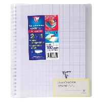 Cahier CLAIREFONTAINE - Cahier reliure avec rabats KOVERBOOK - 17 x 22 - 160 pages Seyes - Couverture polyproplylene translucide - Incolore