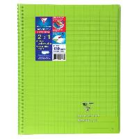 Cahier CLAIREFONTAINE - Cahier reliure avec rabats KOVERBOOK - 21 x 29.7 - 160 pages Seyes - Couverture polyproplylene translucide - Vert