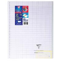 Cahier CLAIREFONTAINE - Cahier reliure avec rabats KOVERBOOK - 21 x 29.7 - 160 pages Seyes - Incolore