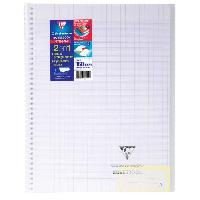 Cahier CLAIREFONTAINE - Cahier reliure avec rabats KOVERBOOK - 24 x 32 - 160 pages Seyes - Couverture polyproplylene translucide - Incolore