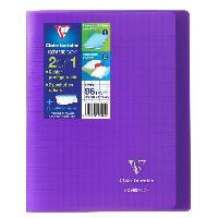 Cahier Cahier Kover Book piqure avec rabats 170 x 220 - 96 Pages - 90 g - Violet