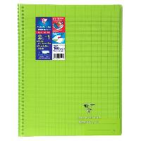Cahier Cahier reliure avec rabats KOVERBOOK - 24 x 32 - 160 pages Seyes - Couverture polyproplylene translucide - Vert