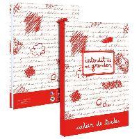Cahier De Texte INTERDIT DE ME GRONDER Cahier de Texte 193ING102STD - Lundi au samedi - Couverture cartonnee souple - Papier PEFC - 15 x 21 cm - Aucune