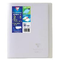 Cahier Kover book cahier piqure avec rabats 170x220 96 pages 90g - Couverture incolore