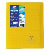 Cahier Kover book cahier piqure avec rabats 170x220 96 pages 90g - Couverture jaune