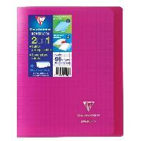 Cahier Kover book cahier piqure avec rabats 170x220 96 pages 90g - Couverture rose