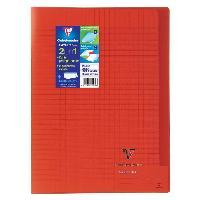 Cahier Kover book cahier piqure avec rabats 210x297 96 pages 90g - Couverture rouge