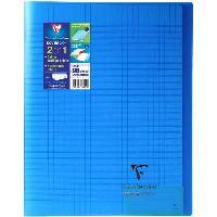Cahier Kover book cahier piqure avec rabats 240x320 96 pages 90g - Couverture bleue