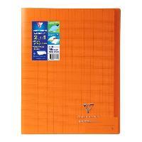 Cahier Kover book cahier piqure avec rabats 240x320 96 pages 90g - Couverture orange