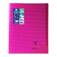 Cahier Kover book cahier piqure avec rabats 240x320 96 pages 90g - Couverture rose