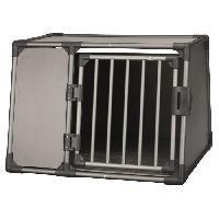 Caisse - Cage De Transport Box de transport - Aluminium - L - 92 x 64 x 78 cm - Gris graphite - Pour chien Trixie
