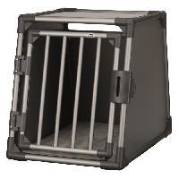 Caisse - Cage De Transport Box de transport - Aluminium - M - 55 x 61 x 74 cm - Gris graphite - Pour chien