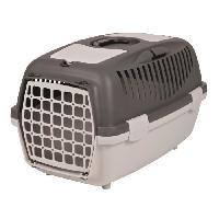 Caisse - Cage De Transport Box de transport Capri 2 - XS-S - 37x34x55 cm - Gris clair et gris fonce - Pour chien et chat