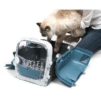Caisse - Cage De Transport CAT IT Cage de transport Cabrio - Bleu gris - Pour chat