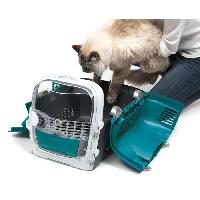 Caisse - Cage De Transport CAT IT Cage de transport Cabrio - Bleu turquoise - Pour chat