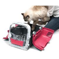 Caisse - Cage De Transport CAT IT Cage de transport Cabrio - Rouge cerise - Pour chat