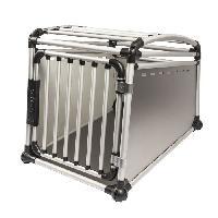 Caisse - Cage De Transport DUVO Cage de transport en alu pour voiture - 55x77x64 cm - Pour chien