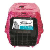 Caisse - Cage De Transport MPETS Cage de transport Bandana- Pour chien - 58x40x26.5cm - Rose M Pets