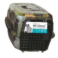 Caisse - Cage De Transport MPETS Cage de transport Warrior - Pour chien - 58x40x26.5cm - Vert Kaki M Pets