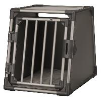 Caisse - Cage De Transport TRIXIE Box de transport - Aluminium - M - 55 x 61 x 74 cm - Gris graphite - Pour chien