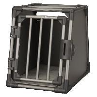 Caisse - Cage De Transport TRIXIE Box de transport - Aluminium - S - 48 x 56 x 61 cm - Gris graphite - Pour chien