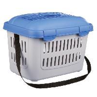 Caisse - Cage De Transport TRIXIE Box de transport Midi-Capri 44 x 33 x 32 cm 11 kg gris clairbleu pour rongeurs