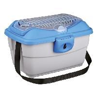 Caisse - Cage De Transport TRIXIE Box de transport Mini-Capri 40 x 22 x 30 cm gris clair-bleu pour rongeurs
