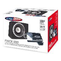 Caissons de basses Pack 12D - Pack Ampli mono 2000W - Basscube avec sub 12p Caliber