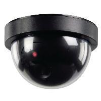 Camera Factice KONIG Caméra de surveillance dôme factice noir