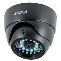 Camera Factice SEDEA Caméra de surveillance factice dôme avec détecteur de mouvement