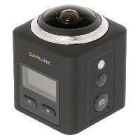 Camescope CL-AC360 Camera Embarquee Full HD 360 degres 2K Wi-Fi Microphone - Noir