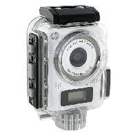 Camescope HP LC100W Mini caméra sport étanche - 8 MPx - Wi-Fi -  Blanc