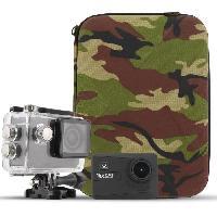 Camescope T'NB Pack Camera sport 4K WiFi - Capteur CMOS 16 megapixels + Malette design Army