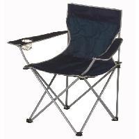 Camping - Camp De Base Chaise de camping pliable - 50 x 50 x 80 cm - Bleu Aucune