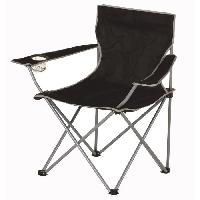 Camping - Camp De Base Chaise de camping pliable - 50 x 50 x 80 cm - Noir Aucune