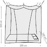 Camping - Camp De Base Moustiquaire Box 2 personnes - 200 x 200 cm