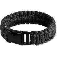 Camping - Camp De Base VIRGINIA Bracelet de survie en corde de nylon - Noir - Aucune