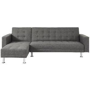 Canape - Sofa - Divan ATLANTA Canape d'angle reversible convertible 4 places - Tissu gris - Contemporain - L 260 x P 173 cm