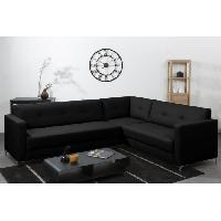 Canape - Sofa - Divan Canape d'angle panoramique NYKYAJAN en simili 4 places - 255x212x81 cm - Noir