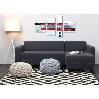 Canape - Sofa - Divan Canape d'angle reversible KULMA 4 places - 205x141x70 cm - Tissu - Anthracite